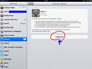 iPadからiOSを更新