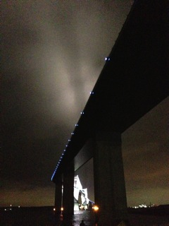 ゲートブリッジのライトアップ