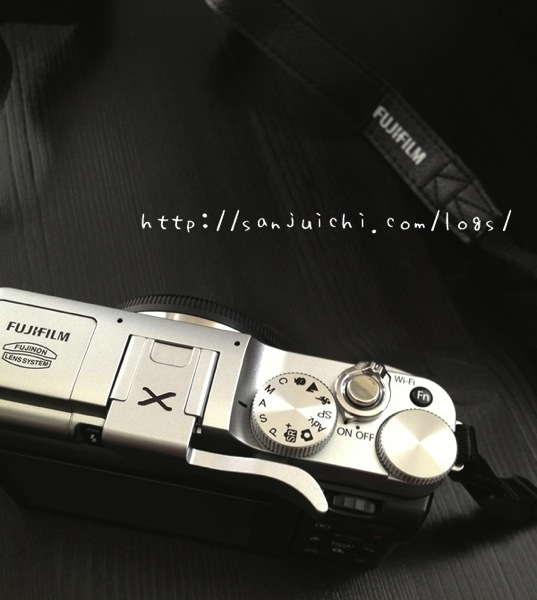 X-M1オリジナルサムレスト装着
